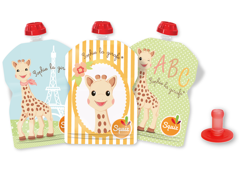 "LOT DE 3 - SQUIZ00016 - PACK 3 SQUIZ ""sophie la girafe"" 90 ml + 1 embout"
