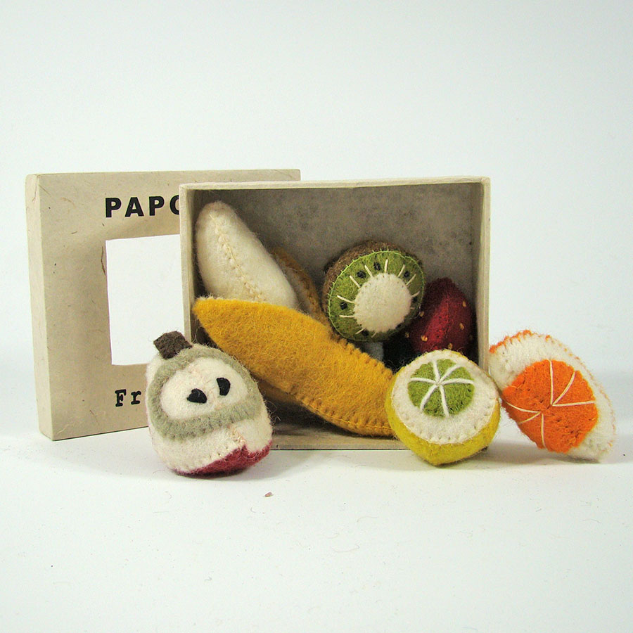 PP302 - Mini fruit en feutrine - Set de 6