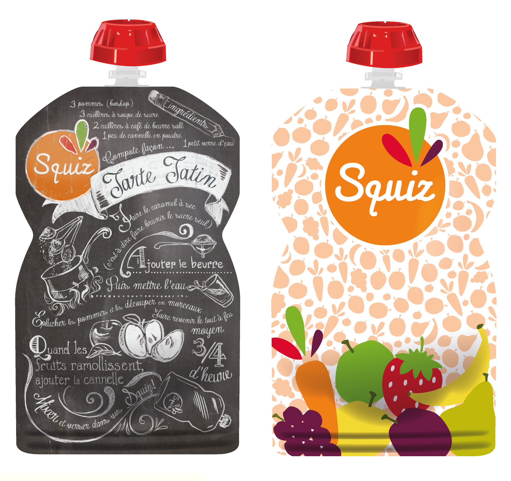 "LOT DE 2 - SQUIZ00010 - PACK 2 SQUIZ ""fruits couleurs"" 130 ml"