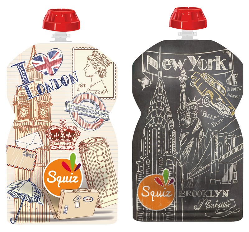 "LOT DE 2 - SQUIZ00009 - PACK 2 SQUIZ ""Londres/NewYork"" 130 ml"