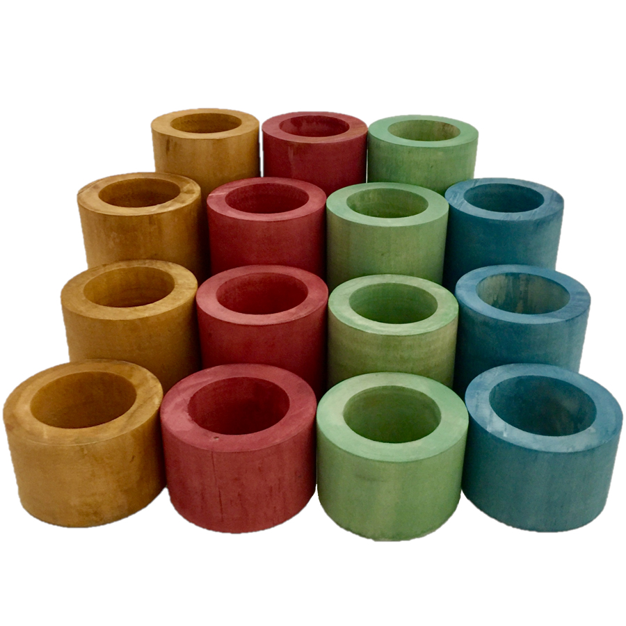 WP185 - Tubes en bois Earth - set de 16