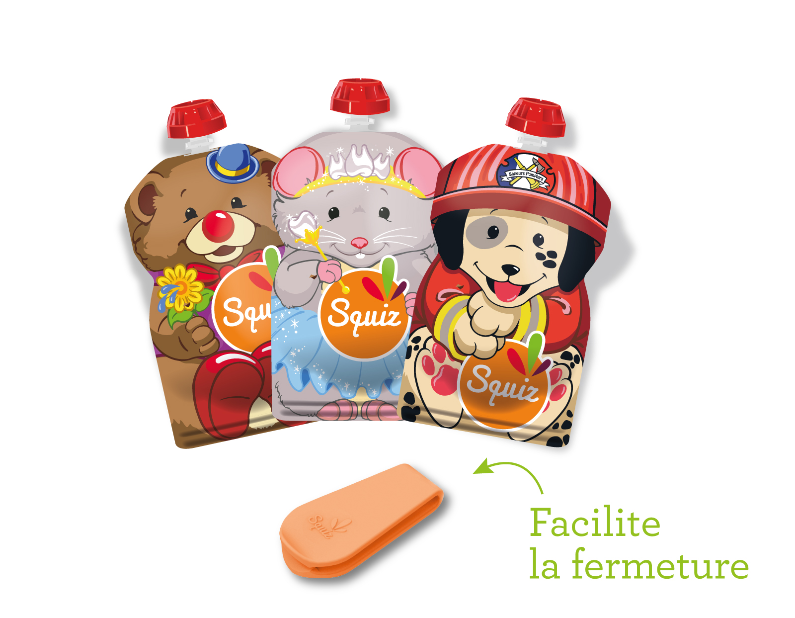"C-SQUIZ00018 - PACK 3 SQUIZ SMILE ""carnaval"" 130 ml NOUVEAU !"